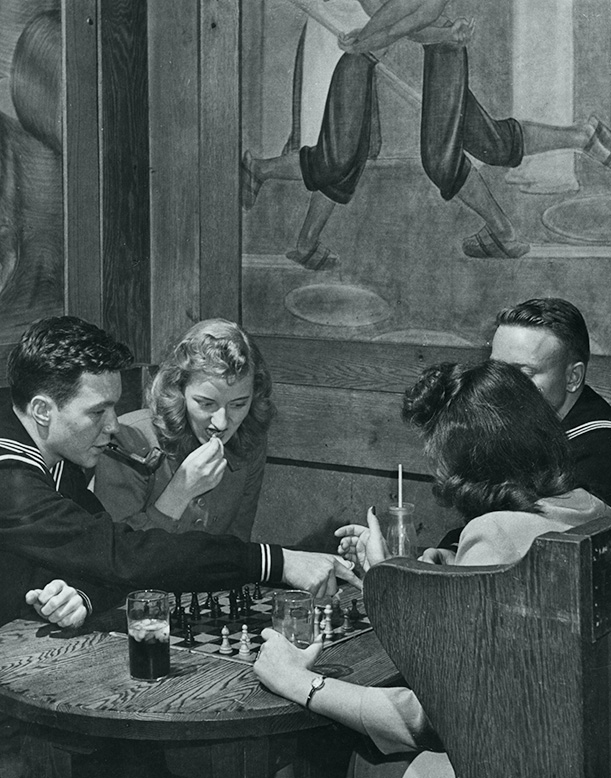 Playing Chess in the Paul Bunyan Room, 1944
